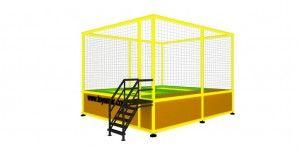 Özel imalat modüler trambolin 2 kişilik