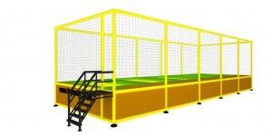 Özel imalat modüler trambolin 5 kişilik