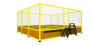 Özel imalat modüler trambolin 6 kişilik